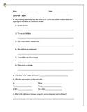Aller Conjugation worksheet