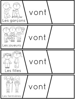 Aller // French Sentence Building Puzzles with the verb Aller