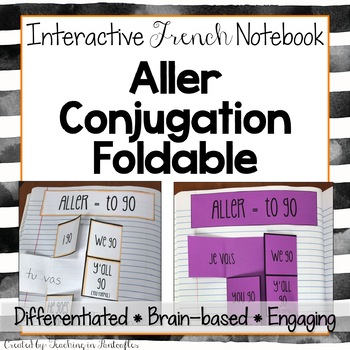 Aller Irregular French Verb Conjugation: French Interactive Notebook