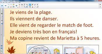 Aller, Venir and Depuis Smartnotebook