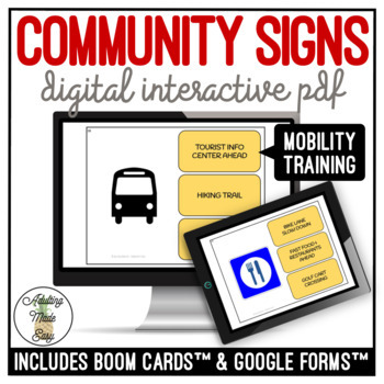 Community Signs Mobility Training Digital Interactive Activity