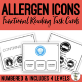 Allergen Icons Task Cards