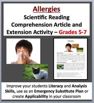 Allergies - Scientific Reading Comprehension Article – Grades 5-7