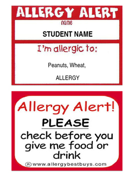 Allergy Allert Template
