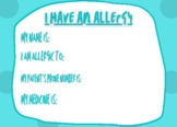Allergy ID card - 3 colors