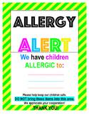 Allergy Sign Editable