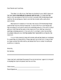 Allergy letter to Parents