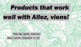 works w/ Allez, Viens! 1, Chapter 1-2 : Pop-Up Game