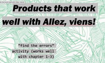 """works w/ Allez, Viens! 1, Chapter 1-3 : """"find the errors"""" activity"""