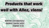works w/ Allez, Viens! 1, Chapter 3-1 : ACHETER handout