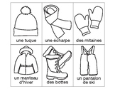 Allez pêcher - Vêtements d'hiver Go Fish French vocabulary game