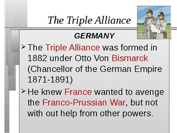 Alliances and Tension Build Unit: Events leading to World War 1
