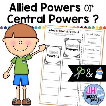 Allied Powers Or Central Powers Cut And Paste Sorting Activity Tpt