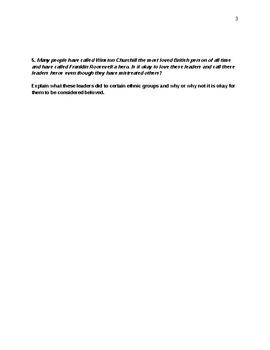 World War II - Allied and Axis Leaders Quiz