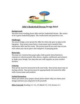 Allie's Basketball Dream STEM Children's Engineering Design Brief