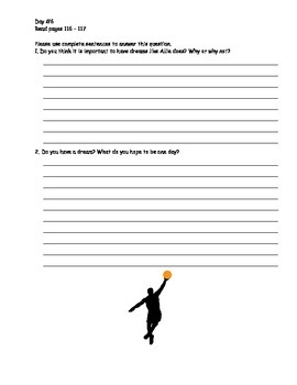 Allie's Basketball Dream Trophies Activity Packet
