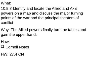 Allies Turn it Around - 27.4 Powerpoint - World War II