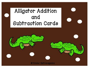 Alligator Addition and Subtraction