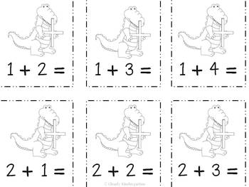 Alligator Addition and Subtraction Game - for facts 0-10