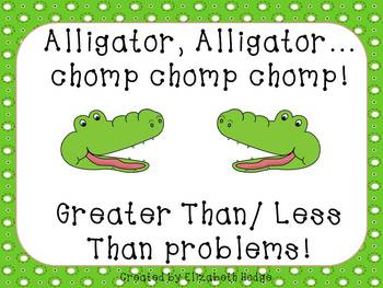 image regarding Greater Than Less Than Alligator Printable referred to as Better Alligator Worksheets Schooling Elements TpT