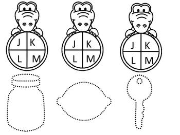 Alligator Alphabet, Sounds and Tracing