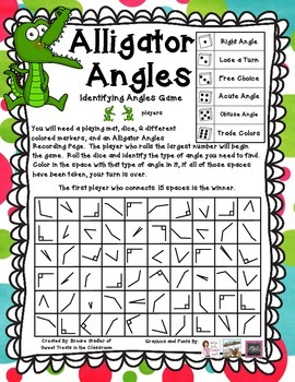 Alligator Angles- Identifying Angle Types