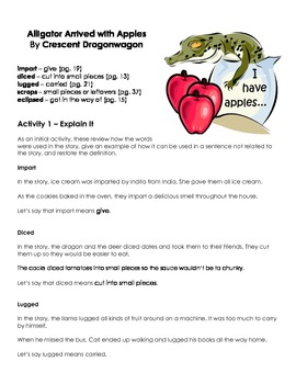 Alligator Arrived with Apples - Vocabulary Word Work