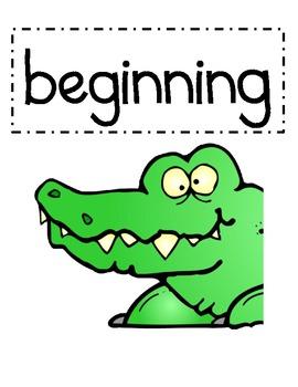 Alligator Beginning and Ending Sounds
