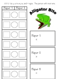 Alligator Bite - Teaching Comparison Signs