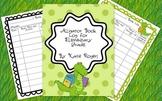 Alligator Book Log for Elementary Grades
