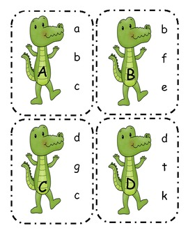 Alligator Capital to Lowercase Clip Cards