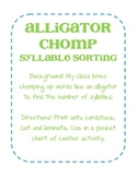 Alligator Chomp Syllable Sort