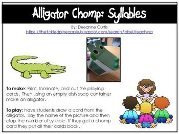 Alligator Chomp-Syllables