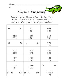 Alligator Comparing