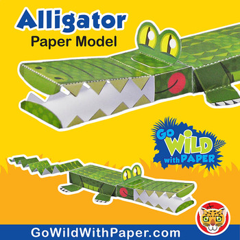 Alligator Craft Activity | 3D Paper Model Crocodile