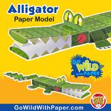Alligator Craft Activity | 3D Paper Model Crocodile