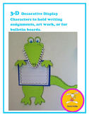 Alligator Craft -Decorative Display for Handwriting, Art, or Bulletin Boards