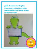 Alligator Craft -Decorative Display for Handwriting, Art,