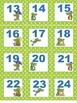 Alligator Crocodile  Calendar number cards