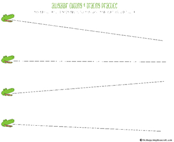 Alligator Cut &/or Trace Exercise Printable