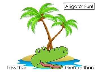 Alligator Fun: 3-digit Greater Than Less Than