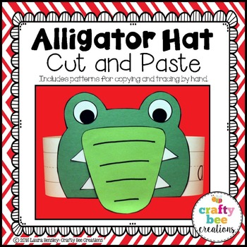 Alligator Hat Cut and Paste