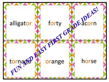 "Alligator Lotto Fun with ""or"" Words (Common Core Aligned)"