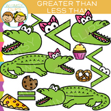 Alligator Greater Than and LessThan Math Clip Art