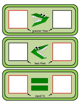 Alligator Math - Greater Than, Less Than & Equal To