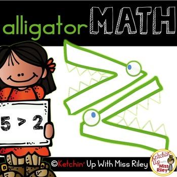 Alligator Math- Greater Than/ Less Than (FREEBIE)