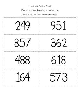 Alligator Munchie Math - Comparing Three-Digit Numbers