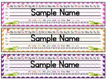 Alligator Name Plates / Desk Tags