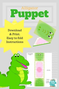 Alligator Puppet Printables