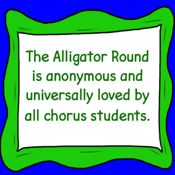 Alligator Round .mp3 ♫  Sing-a-long Accompaniment Trax